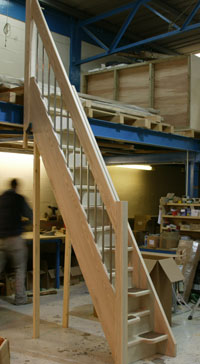 Ash 40 Spacesaver Staircase