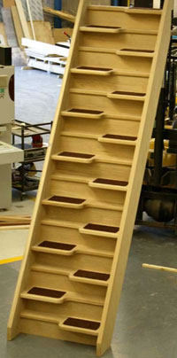 Oak 40 space saving staircase