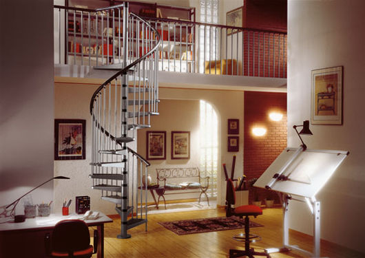 Gamia Metal Spiral stairs - silver grey