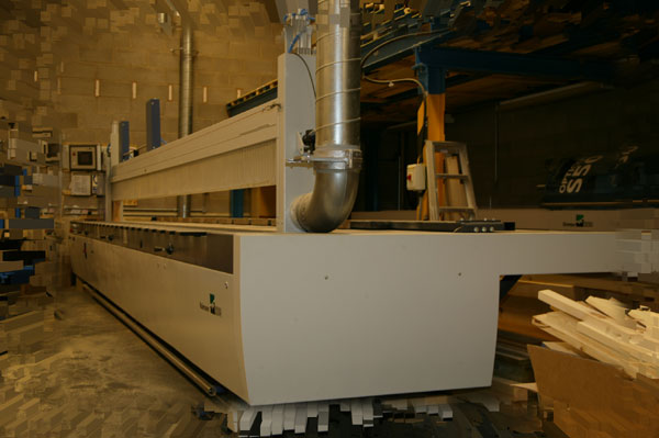One of our latest machines in 2008 is this digitally controlled beam saw