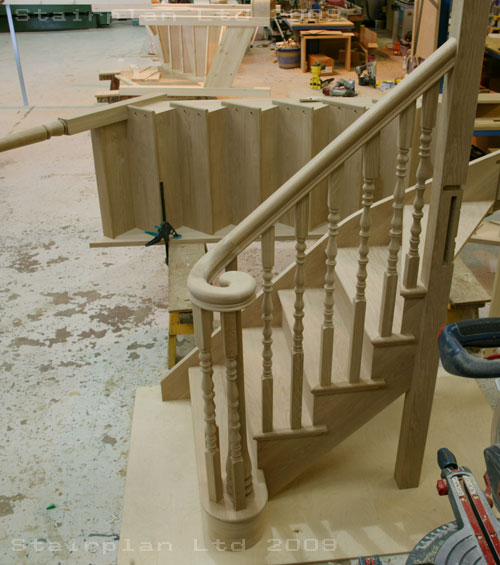 Oak cut sting Staircases by the Specialists