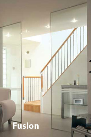 Fusion contemporary stair parts